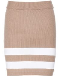 Edun Stretch-Wool Skirt - Lyst