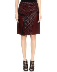 J. Mendel Knee Length Asymmetrical Skirt  Rubynoir - Lyst