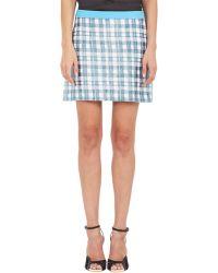 Emanuel Ungaro Plaid Paillette Mini-Skirt - Lyst