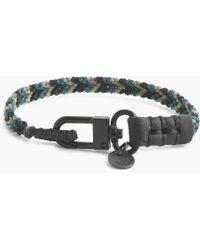 J.Crew - Caputo & Co. Chevron Nylon Leather Bracelet - Lyst