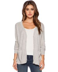Autumn Cashmere Side Slit Cardigan - Lyst