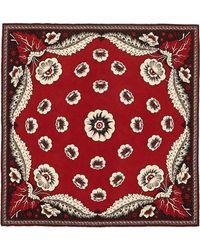Valentino Leaf Foulard Silk Twill Scarf multicolor - Lyst