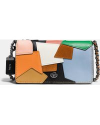 COACH | Dinky Crossbody In Patchwork Leather | Lyst