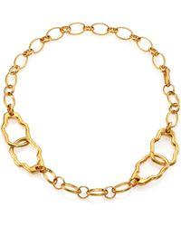 Alexander McQueen Skull Link Bracelet gold - Lyst