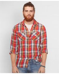 Denim & Supply Ralph Lauren Lightweight Plaid Flannel Shirt - Lyst