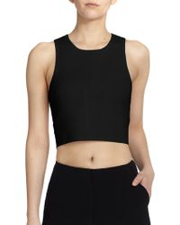 Elizabeth And James Textured Cropped Top - Lyst