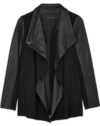 Theory Naomo Jersey and Leather Jacket - Lyst