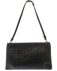 Christian Louboutin Loubiposh Spike Leather Clutch - Lyst