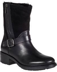 Aquatalia by Marvin K Saphire Biker Boot Black Leather - Lyst