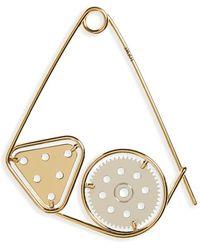 Loewe | 'meccano' Double Pin Bag Charm - Metallic | Lyst