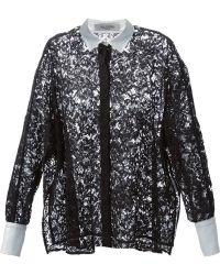 Valentino Black Lace Shirt - Lyst