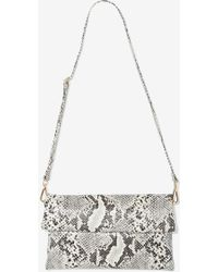 Nasty Gal Walk On The Wild Side Snakeskin Clutch - Lyst
