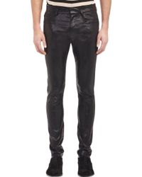 Haider Ackermann Blistered Leather Trousers - Lyst