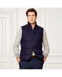 Ralph Lauren Purple Label - Quilted Wool Down Vest - Lyst