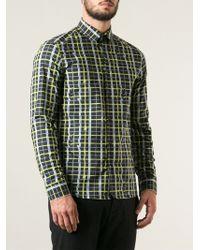 Kenzo Neon Plaid Shirt - Lyst