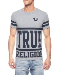True Religion First String Short Sleeve Crew Neck Tee - Lyst