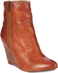 Frye Women'S Regina Wedge Booties - Lyst