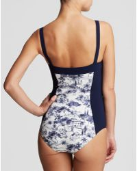 Tory Burch Vallauris One Piece Swimsuit - Lyst