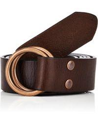 Caputo & Co. - Men's Grained Leather Belt - Lyst
