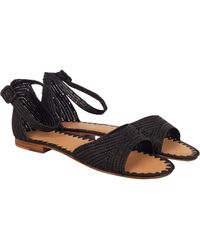 Carrie Forbes Moha Ankle Strap Sandal black - Lyst