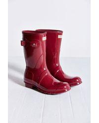 Hunter Original Short Gloss Rain Boot - Lyst
