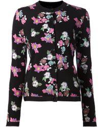 Thom Browne Floral Pattern Cardigan - Lyst