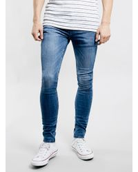 Topman Mid Wash Spray On Jeans - Lyst