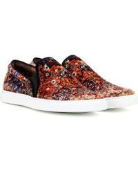 Tabitha Simmons - Huntington Velvet Slip-on Trainers - Lyst