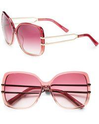 Saks Fifth Avenue - Claire Oversized Square Plastic Sunglasses - Lyst