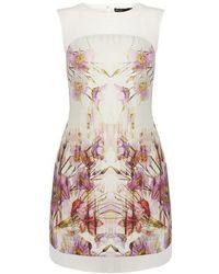 Karen Millen Floral Print T-Shirt Dress - Lyst