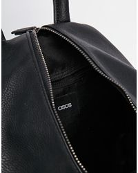 ASOS - Front Zip Backpack With Dog Clip And Pockets - Lyst