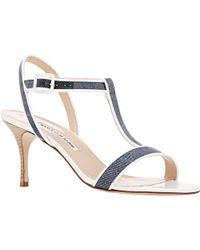 Manolo Blahnik Blue Dador Sandals - Lyst