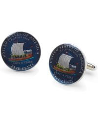 Brooks Brothers Lewis and Clark Hand Painted Nickel Cuff Links - Lyst