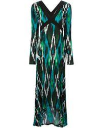 MICHAEL Michael Kors Printed Long Dress - Lyst