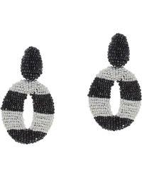 Oscar de la Renta Striped Oscar O Earrings - Lyst