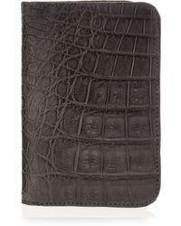 Santiago Gonzalez - Crocodile Foldover Card Case - Lyst