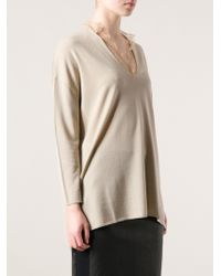 Valentino Lace Detail Knit Sweater - Lyst