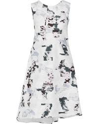 Jil Sander Tamarindo Asymmetrical Fil Coupé Dress - Lyst