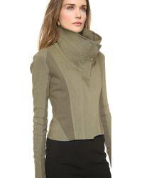 Donna Karan - Wide Neck Zip Jacket - Lyst