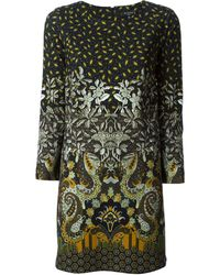 Etro Paisley Pattern Shift Dress - Lyst