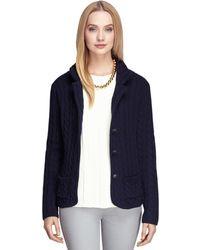 Brooks Brothers Saxxon Wool Sweater Jacket - Lyst