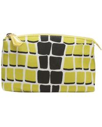 Fendi Citron and Black Leather and Nylon Cosmetic Bag - Lyst