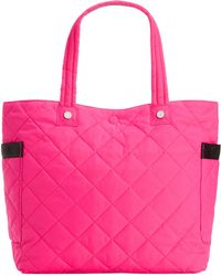 Calvin Klein Cire Reversible Extra Large Nylon Tote pink - Lyst