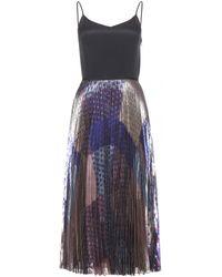 Victoria, Victoria Beckham Printed Silk Dress - Lyst