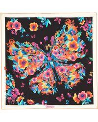 Ferragamo | Floral Butterfly Silk Scarf | Lyst