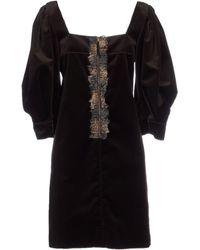 D&G Short Dress brown - Lyst