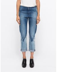 Need Supply Co. Phoebe Slim In Triangle Wash blue - Lyst