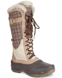 The North Face Womens Shellista Lace Luxe Faux-fur Boots - Lyst