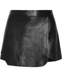 Jonathan Simkhai Black Leather Shorts - Lyst