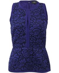 J. Mendel | Halter Top With Lace Embroidery | Lyst